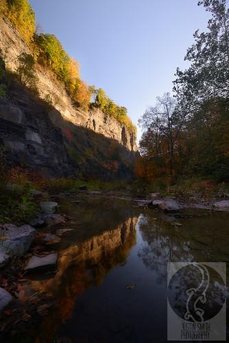autumn ny newyork reflection sunrise ithaca fingerlakes taughannockfalls justinsmith nikon1735mmf28 nikond800 justinsmithphotocom