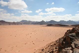 Deserto de Wadi Rum na Jordânia em 2007