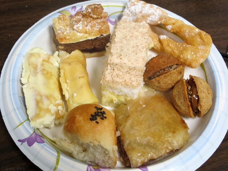 International potluck dinner desserts