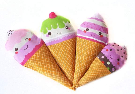 Ice cream plushies