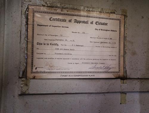 September 10, 1979 - Last inspected