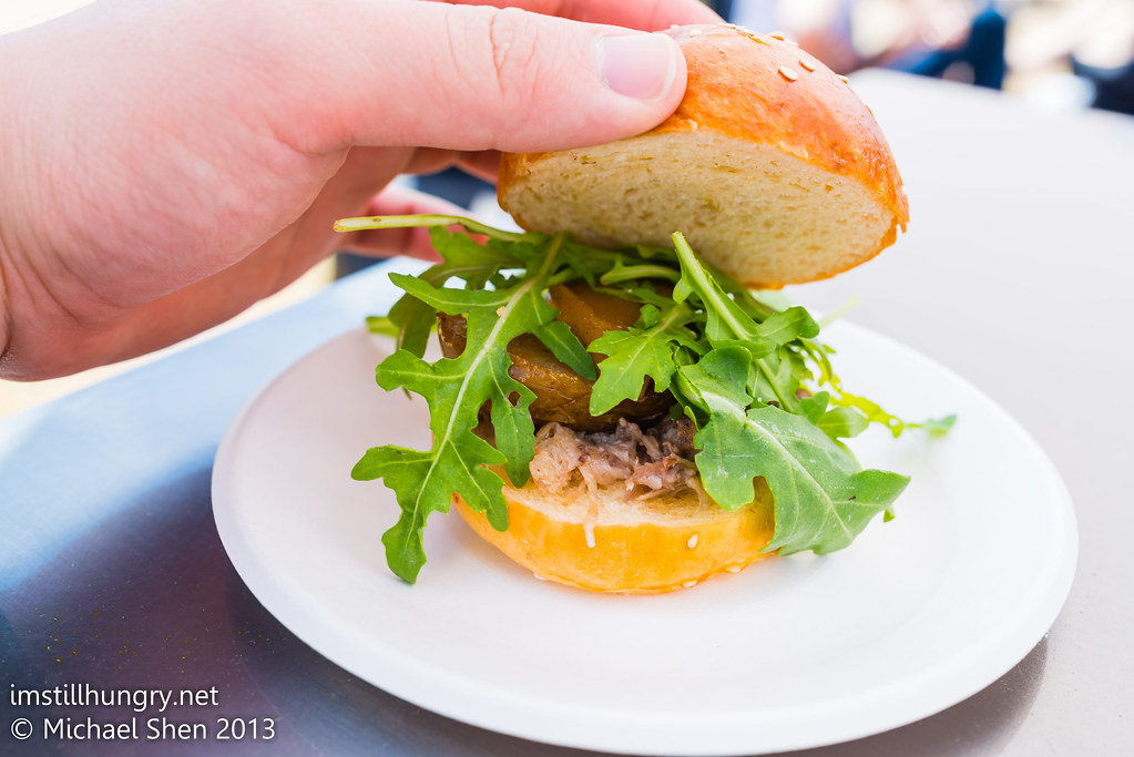 Taste of Sydney - Roast Pear & Duck Slider insides