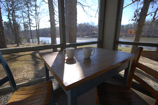 We Enjoyed Our Afternoon Coffee Here Watching The Sunset (Cabin 6 At Twin  Lakes State