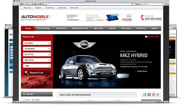 wordpress listing theme automobile templatic