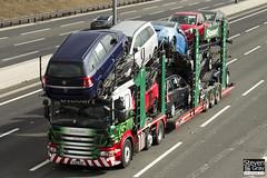 Scania P420 6x2 Car Transporter - AY12 AOC - Doris Elsa - Eddie Stobart - M1 J10 Luton - Steven Gray - IMG_4980