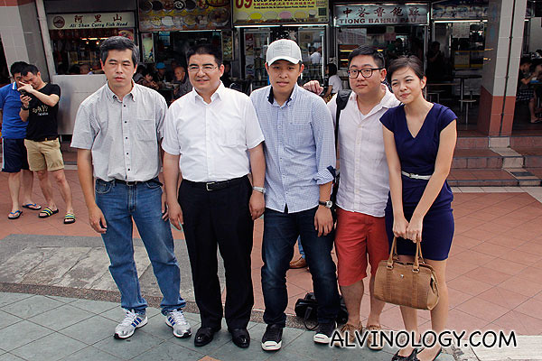 I took a picture with Chen Guangbiao, together with three other bloggers