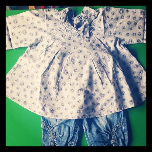 Tenu du jour de néné blouse #jeanbourget #blog #blogueuse #mode