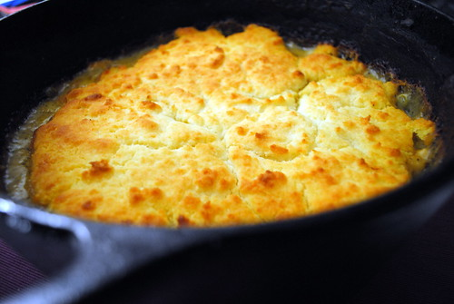 Turkey Pot Pie with Gluten Free Cheddar Biscuit Topping