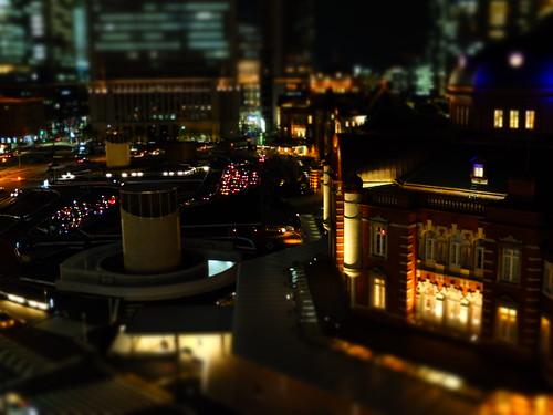 night scene of Tokyo Station terminal 02