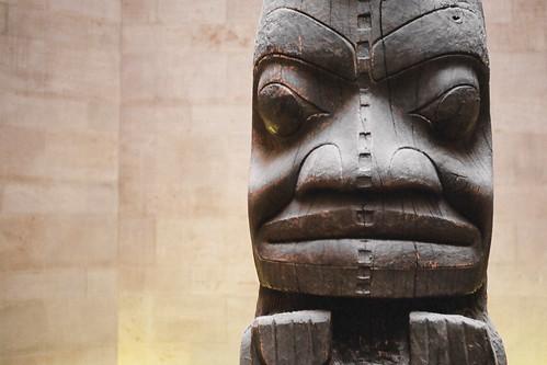 Totem pole, Royal Ontario Museum, Toronto