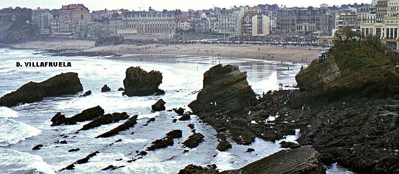 marée du Siècle à la Grande Plage de Biarritz, le 27 mars 1967 météopassion
