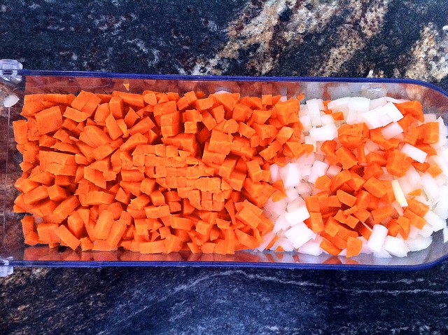 Finely Diced Carrots