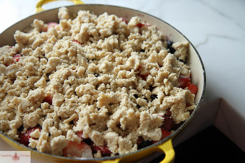 Strawberry, Rhubarb and Blueberry Crisp