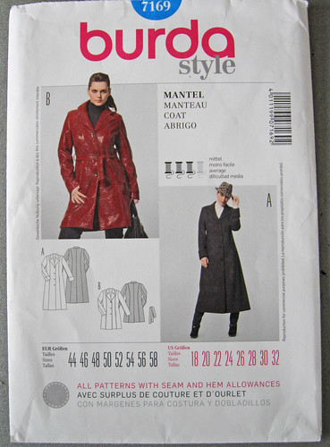 Burda pattern 7169 coat