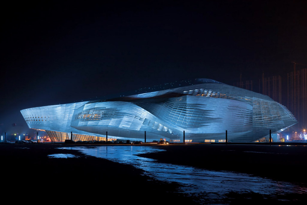 Dalian International Conference Center design by Coop Himmelb(l)au