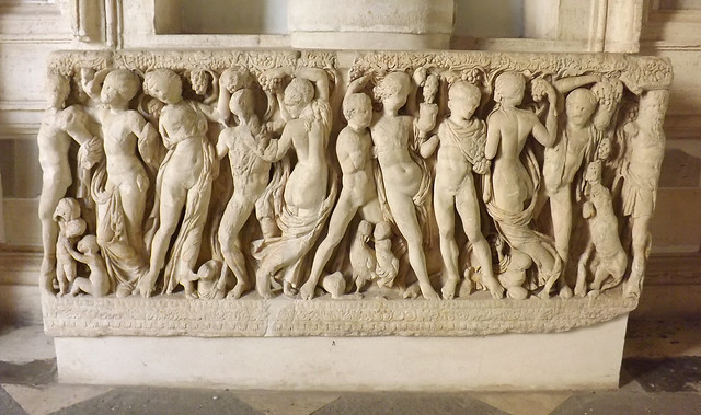 Sarcophagus with a Bacchic Scene in the Capitoline Museum, July 2012
