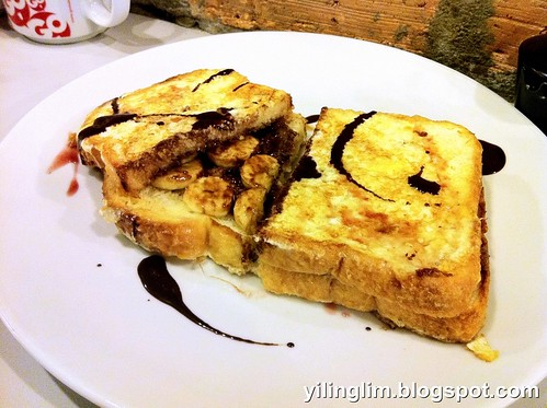 Choc banana french toast