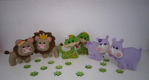 ♥♥♥ Animais da selva para a Arca de Noé... by sweetfelt \ ideias em feltro