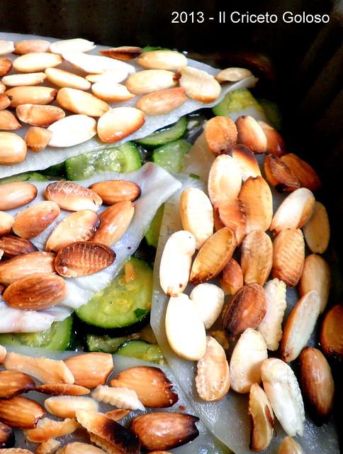 Platessa alle zucchine e mandorle