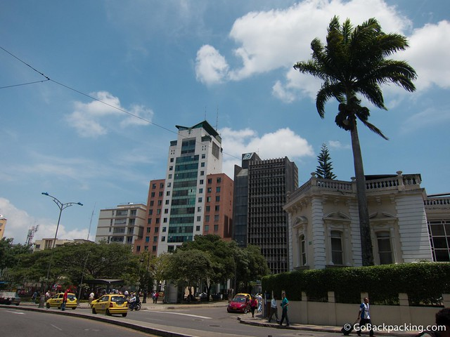 View toward Parque Santander in downtown Bucaramanga