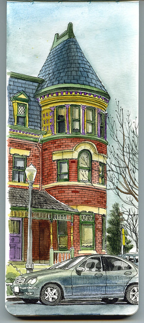 sketching in benedict historic district