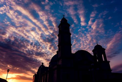 sunset sky church clouds atardecer iglesia nubes veracruz tlacotalpan