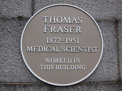 Photo of Thomas Fraser yellow plaque