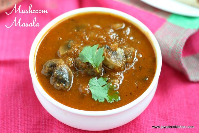 mushroom masala +gravy