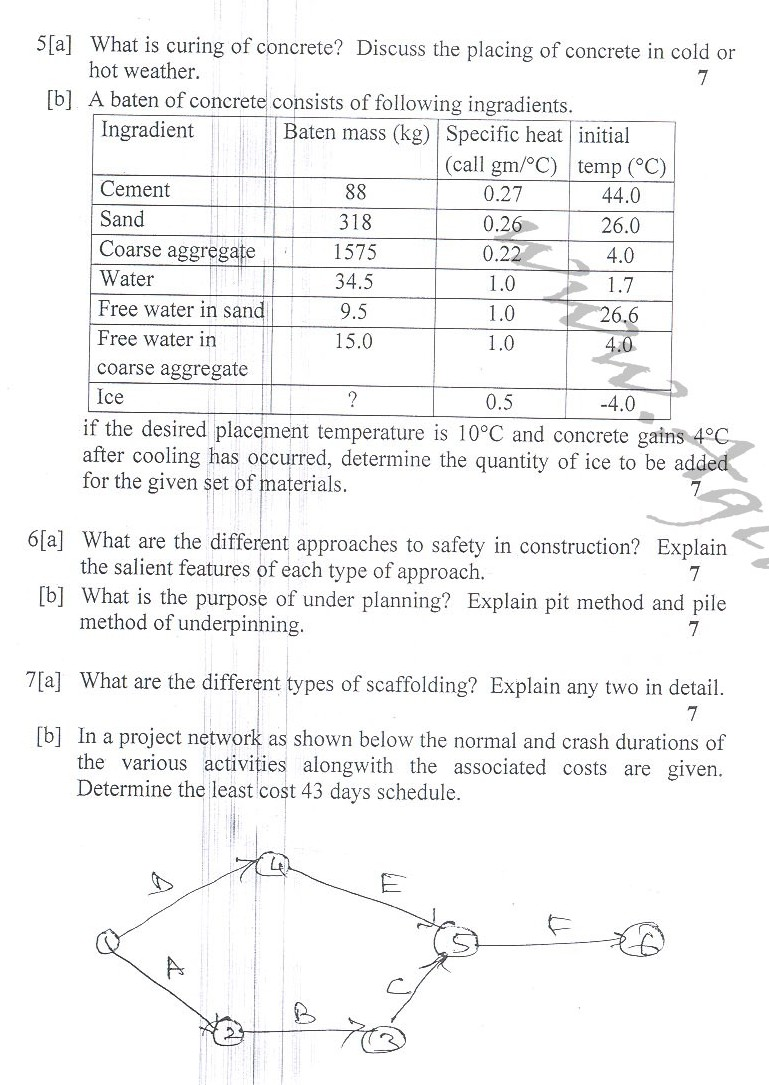DTU Question Papers 2010 – 6 Semester - End Sem - CE-315