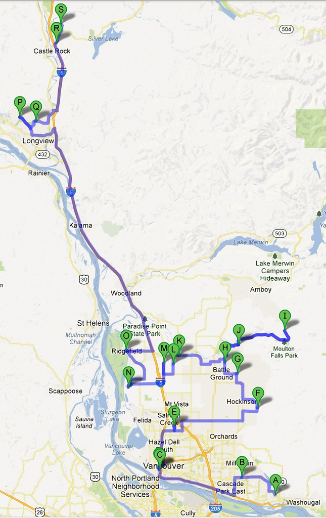 Google Map of Wineries in SWW Enlarged