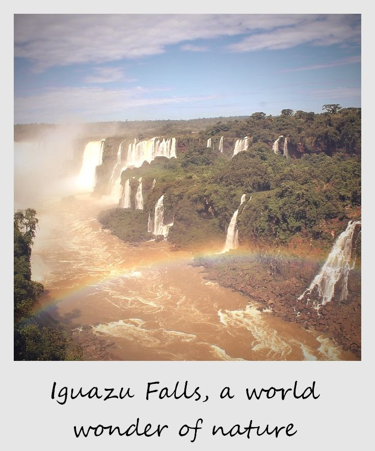 polaroid of the week argentina iguazu falls with rainbow