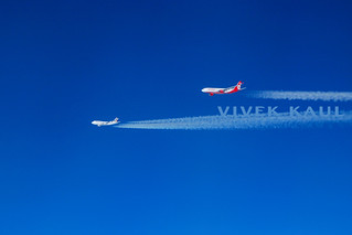 Air France 744 & Air Berlin A332