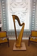 clãrsach, yellow, wood, harp, string instrument,