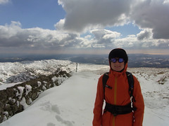 Andrea on Red Screes