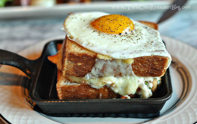 Lobster Grilled Cheese with an Egg at Butcher and the Boar ~ Minneapolis, MN