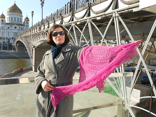 Snowdrop shawl by Stephanie Pearl-McPhee held by Eva S. near Christ the Saviour
