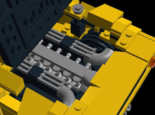 Lamborghini Diablo VT 6.0 liter V12 engine