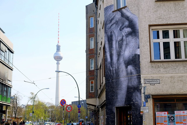 "streetart . jr  ""wrinkles of the city"" . berlin"