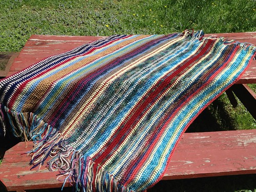 Vintage vertical stripes blanket complete