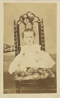An Apprensive Baby with the Steading Hand of a Hidden Mother - CDV