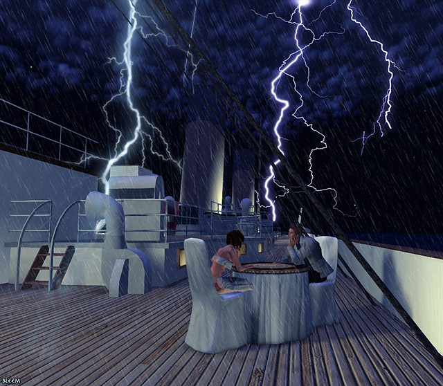 Titanic Lightning Storm - Second Life