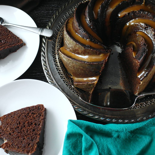 Double Chocolate Stout Cake with Vanilla Porter Toffee