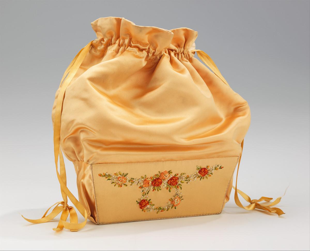 1800. American. Silk, paper. metmuseum