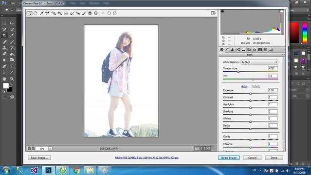 chỉnh ảnh bị chói sáng bằng photoshop