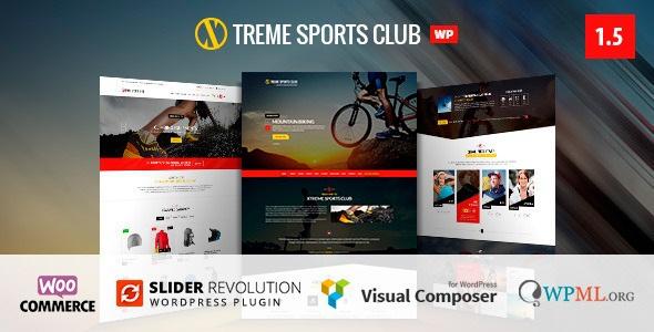 Xtreme Sports v1.5.4 - WordPress Club Theme