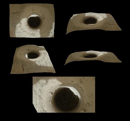 CURIOSITY sol 182 MAHLI drill 3d