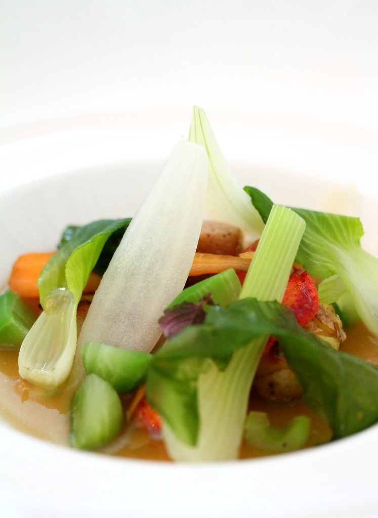 "Restaurant Andre's ""croquant"" seasonal vegetables"