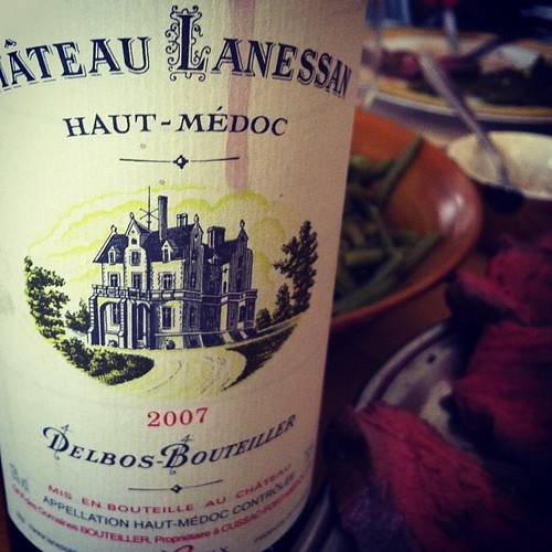 Château Lanessan 2007, haut-médoc avec rôti de bœuf et haricots verts frais #miam #glouglou #wine #vin