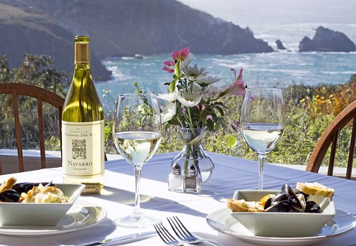 Table for Two by the sea.....Albion River Inn / Mendocino Coast