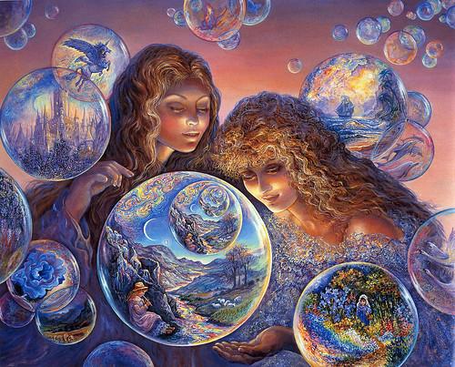 009-Mundos de burbujas-Josephine Wall-via www.dana-mad.ru